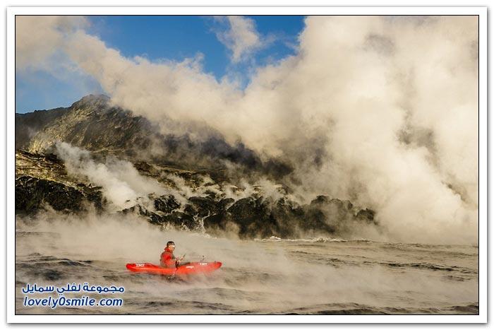 التجديف بين الحمم البركانية