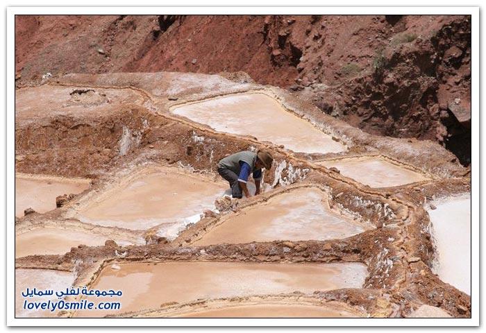 أحواض الملح ما قبل حضارة الإنكا في بلدة ماراس، بيرو