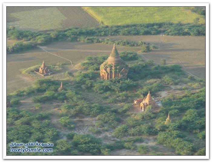 عدة ألاف من المعابد في مدينة باجان - مانيمار, بورما
