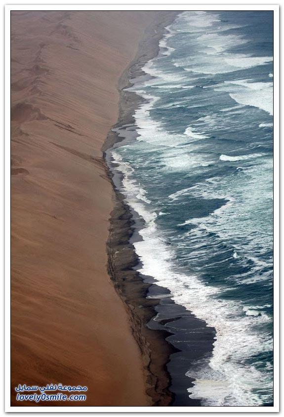 التقاء صحراء ناميب بالمحيط الأطلسي