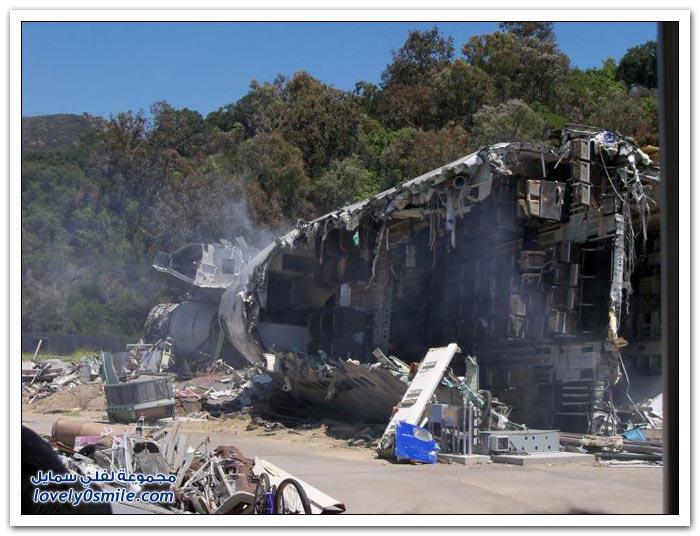 حطام طائرة بوينج 747 مستخدمة في فلمين عالميين