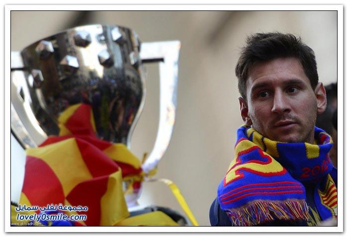 برشلونة يحتفل بلقبه الـ 22