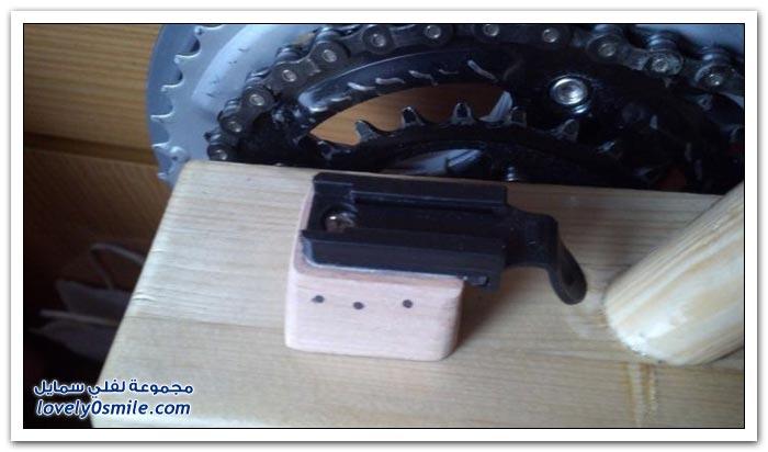صناعة دراجة هوائية من الخشب