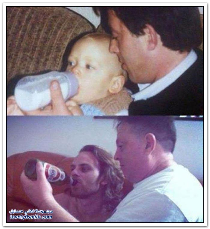 صور عائلية بين الماضي والحاضر