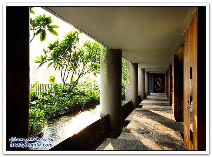 الحديقة الضخمة في فندق بارك رويال في سنغافورة