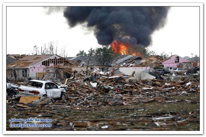 آثار الدمار الذي خلفه إعصار أوكلاهوما 2013