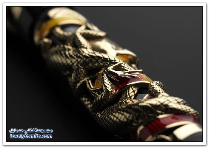 قلم مصنوع من الذهب بـ سبعين ألف دولار