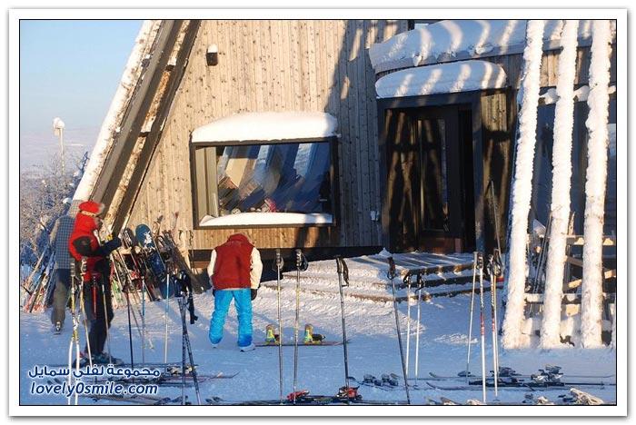 مطعم لمحبي التزلج في منتجع Ramundberget السويسري