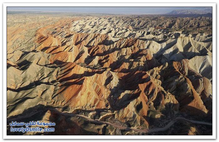 صور خلابة من التكوينات الصخرية الملونة فى الصين