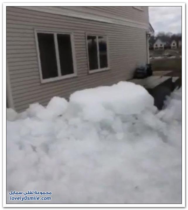 تسونامي الجليد الذي سبب أضرارا في منازل مينيسوتا