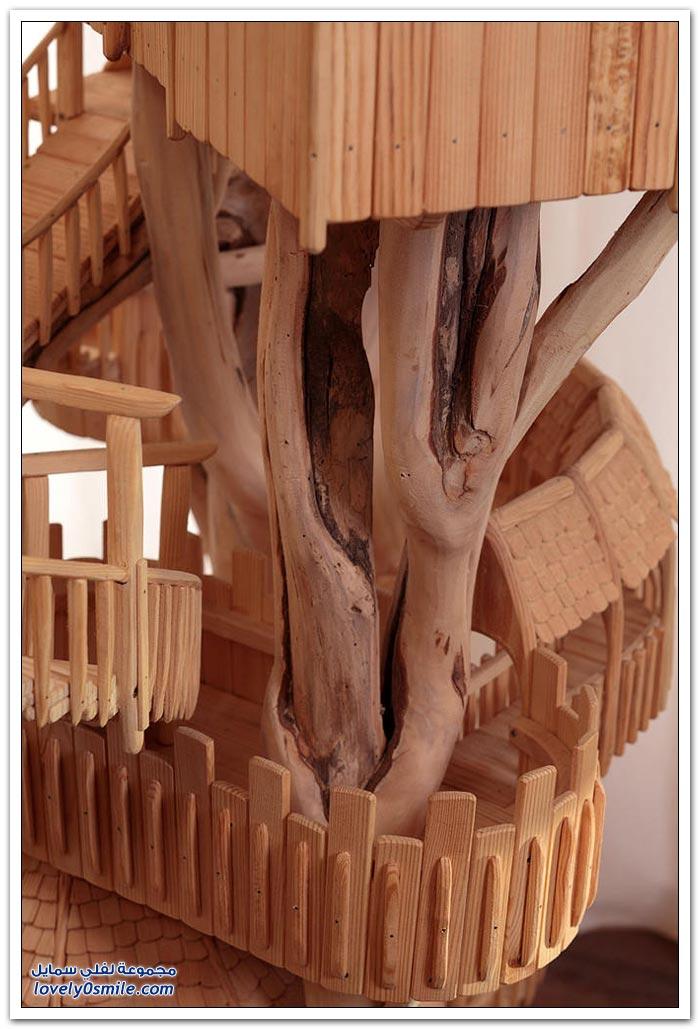 دقة النحت للمنازل الخشبية من المصمم روب هيرد