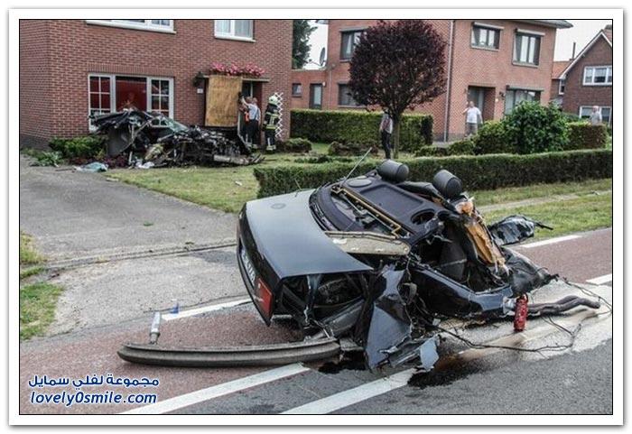 حادث مروع لأحدث موديلات أودي