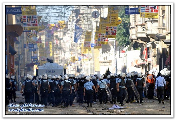 أشجار تتسبب بمظاهرات اسطنبول
