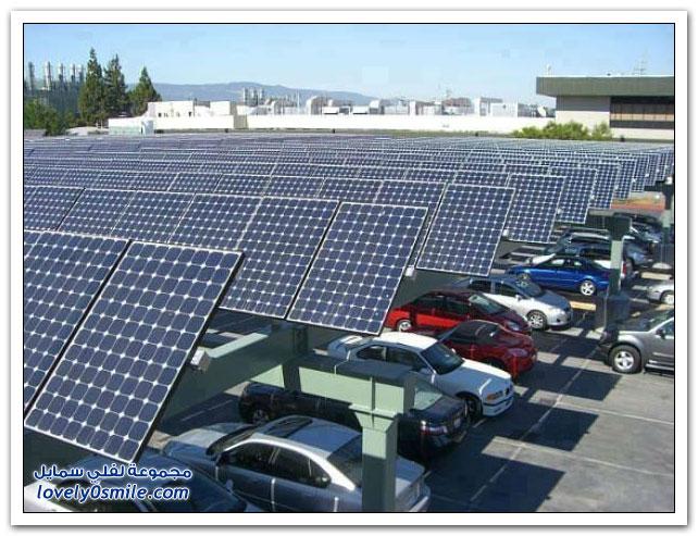 استغلال مواقف السيارات لتوليد الطاقة الشمسية