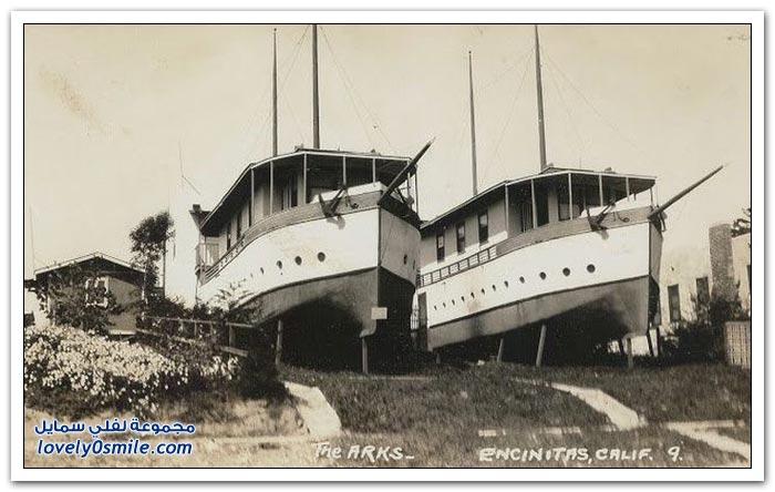 منازل بُنيت داخل سفن قديم
