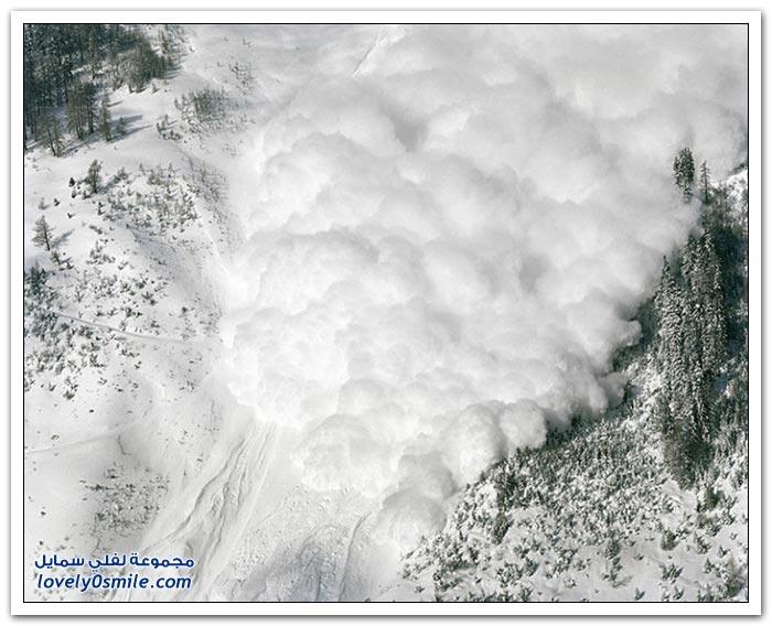 صور للانهيارات الثلجية