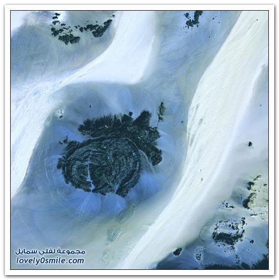 صور الصحراء من الفضاء