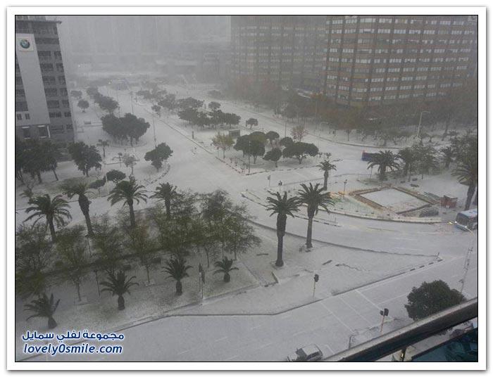 تساقط الثلوج في كيب تاون