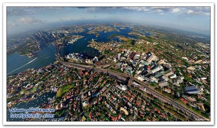 مناظر مذهلة من السماء لبعض مدن العالم