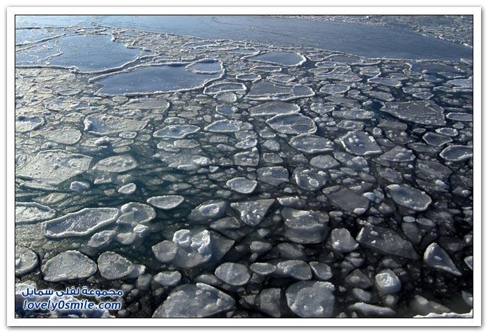ذوبان الجليد بشكل غريب