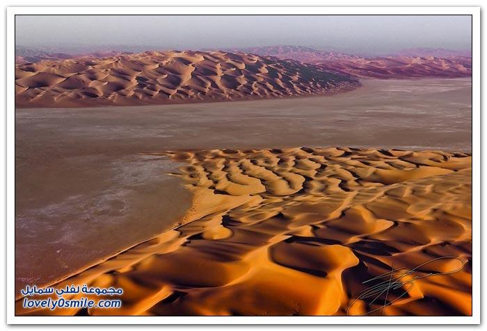 الكثبان الرملية في الربع الخالي