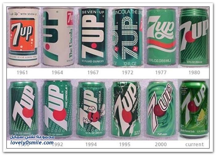 تطور أشكال وألوان علب المشروبات الغازية