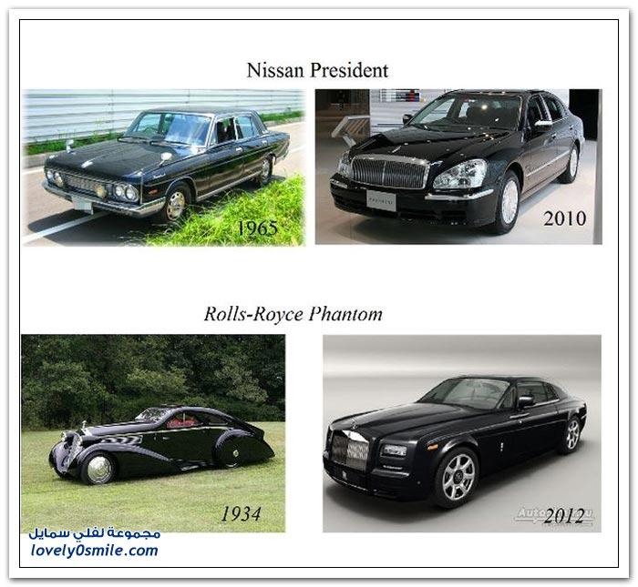 أنواع من السيارات بين الماضي والحاضر