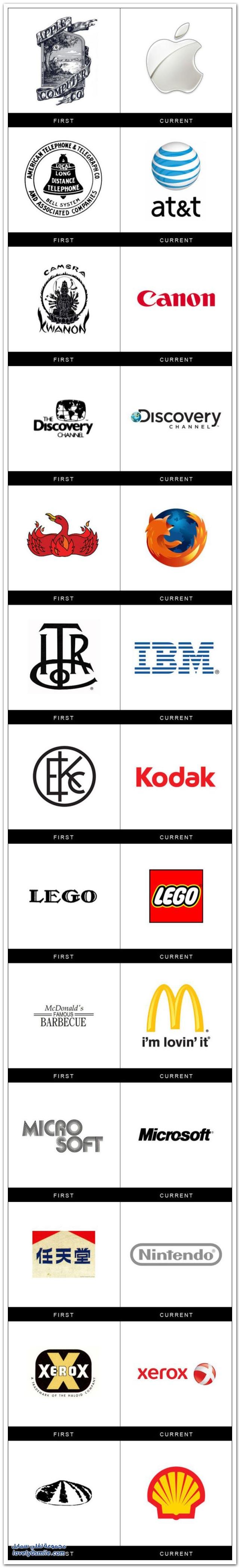العلامات التجارية كيف كانت وكيف أصبحت