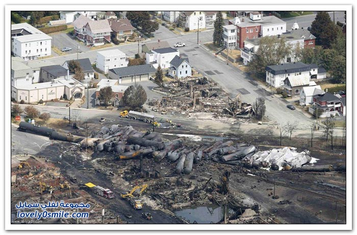 كارثة قطار كندا