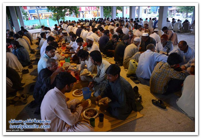 الفطور الجماعي في رمضان في بعض دول العالم