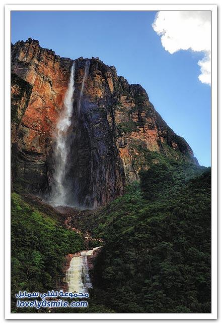 إنجل فولس الشلالات الأعلى في العالم