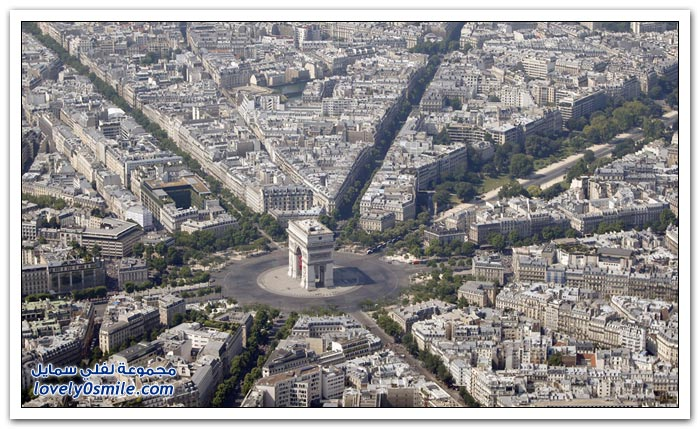 مناظر رائعة لباريس من الأعلى