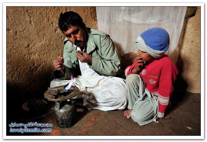 إدمان الحشيش والهروين بين أطفال وشباب أفغانستان