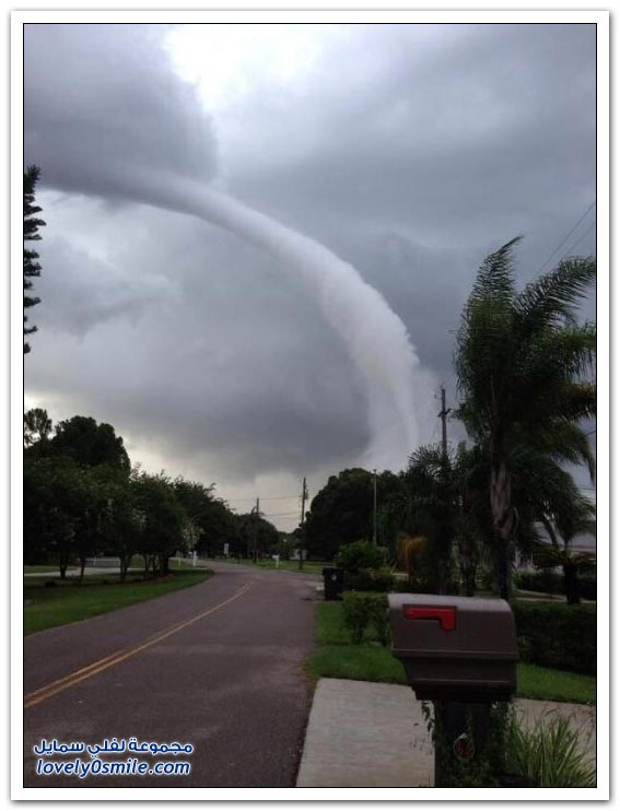 أمريكي يصور الإعصار من مكان قريب جدا