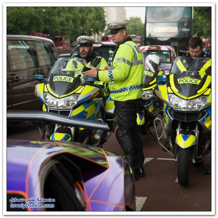 احتجاز لامبورغيني لشيخ قطري في لندن