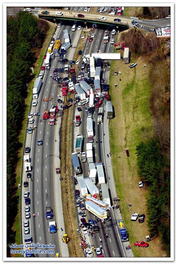 صور من أسوأ حوادث الطرق في العالم