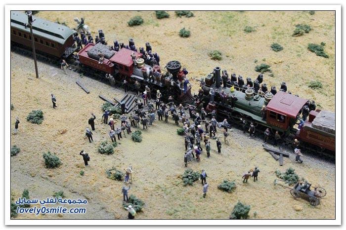 بناء أكبر نموذج في العالم للسكك الحديدية من قبل رجل واحد