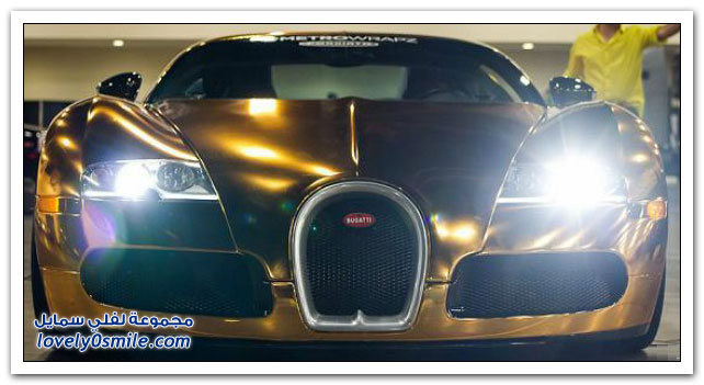 مطرب أمريكي يغطي سيارته الـ بوجاتي فيرون بالذهب