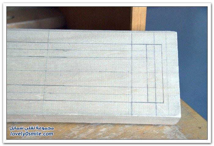 صناعة سلسلة من الخشب