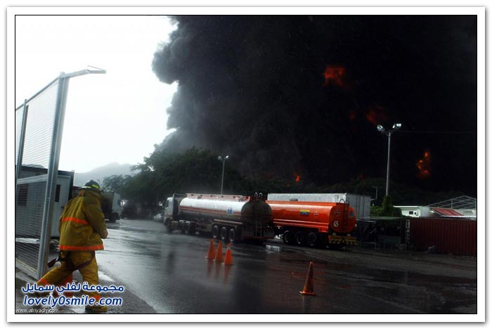 حريق بسبب صاعقة في فنزويلا