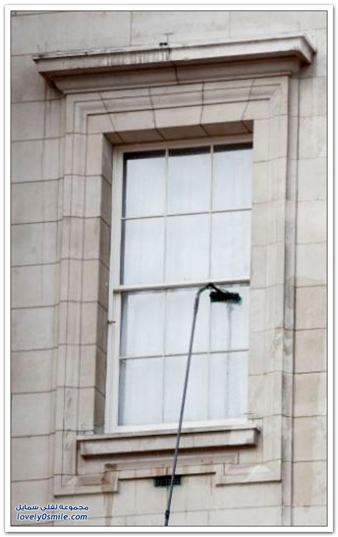 كيفية تنظيف النوافذ من الخارج