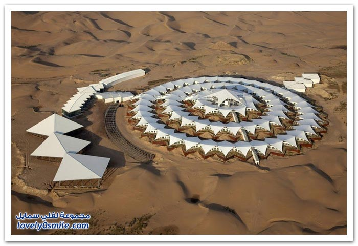 فندق لوتس في صحراء منغوليا