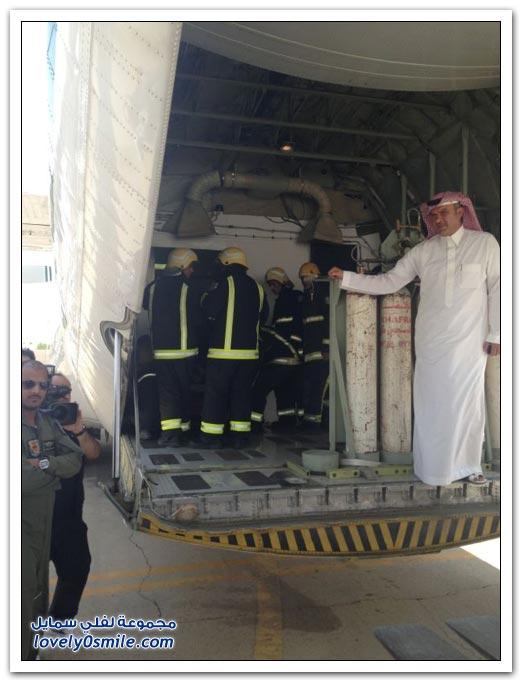 ثلاث رافعات و 31 رجل إنقاذ نقل مريض السمنة من جازان للرياض