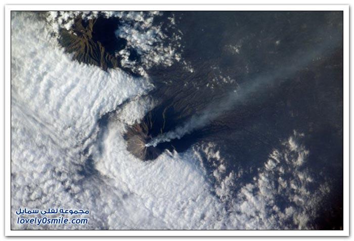 صور لثوران البراكين من الفضاء