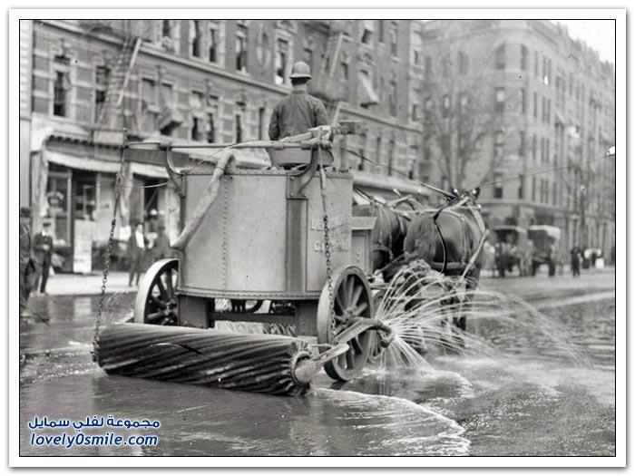 طريقة تنظيف الشوارع في الماضي