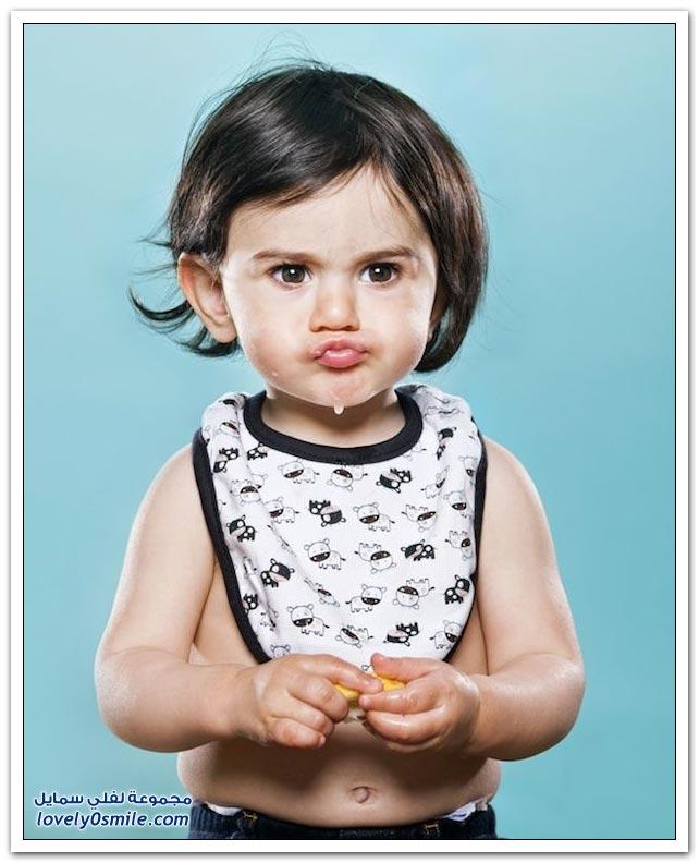 صور أطفال يتذوقون الليمون لأول مرة