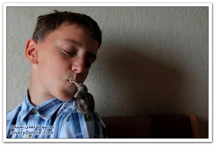 صبي عمرة 12 عام صديق عصفور