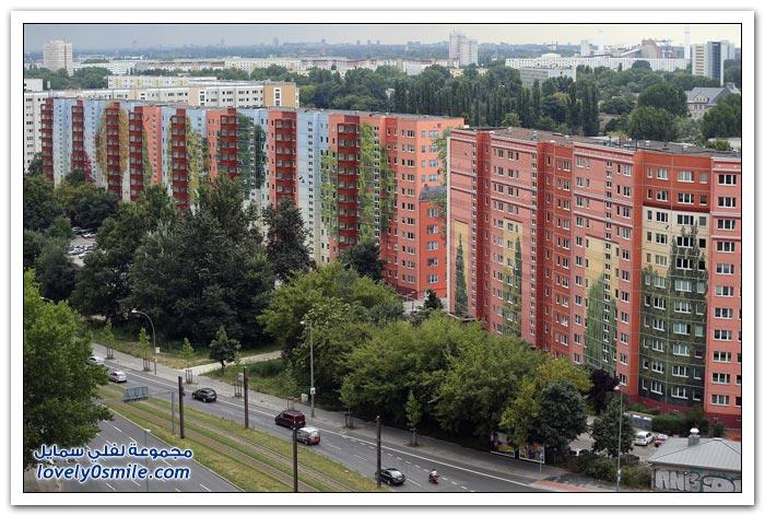 الرسم على البنايات السكنية