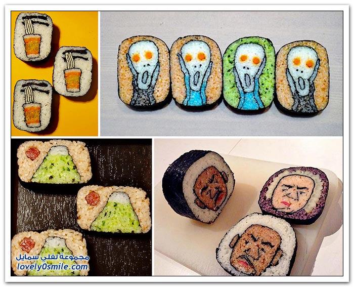 الأعمال الفنية في إعداد السوشي