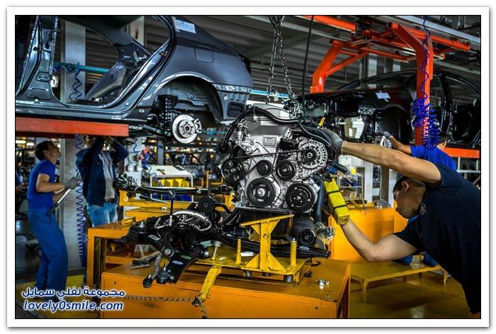 مصنع تجميع سيارات ليفان الصينية في روسيا
